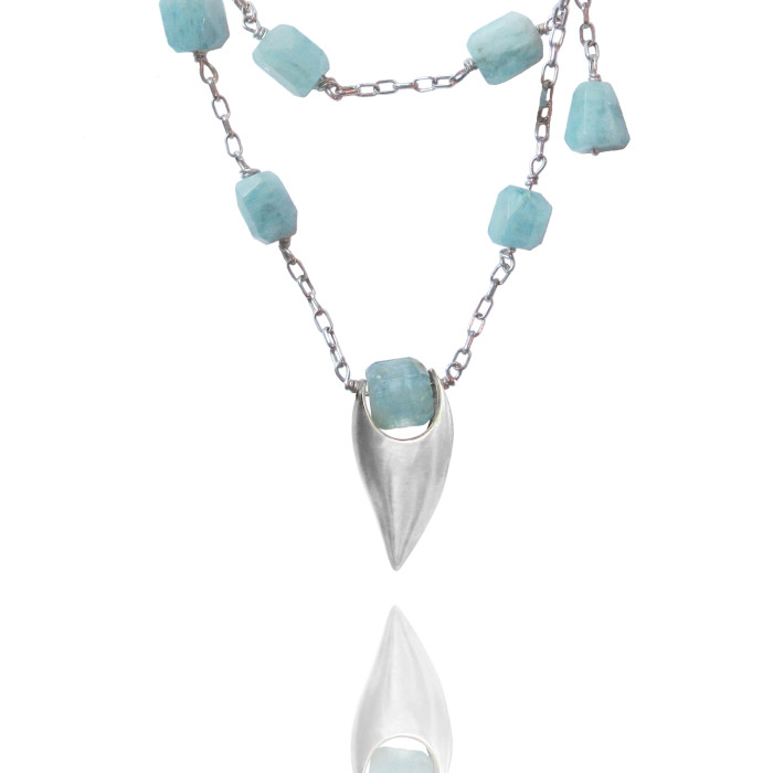Aquamarine Talon Necklace