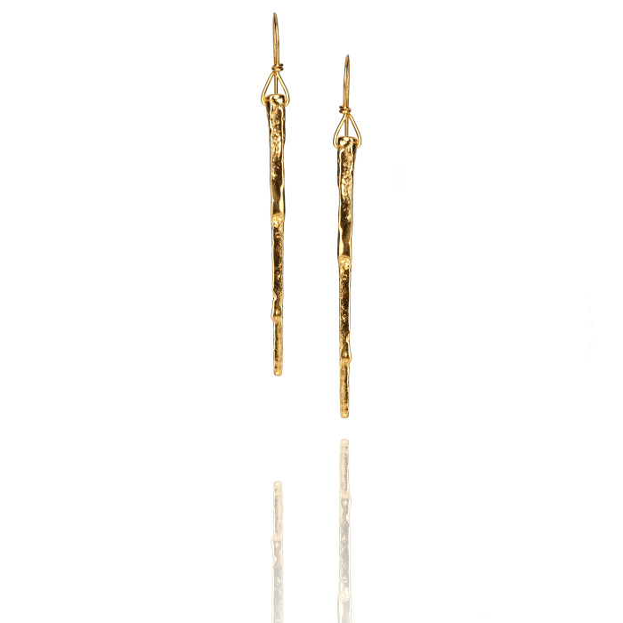 Gold Stake Earrings